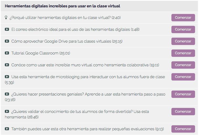 Temas Curso Profesor virtual 2